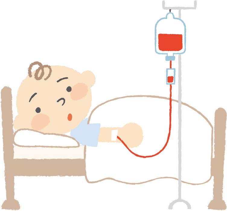 赤ちゃんの血を健康な血に全部入れ替える必要がある