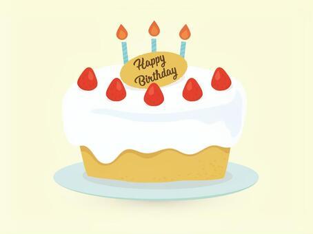 誕生日にホールケーキにロウソクふ~ってのをやった事がなかった